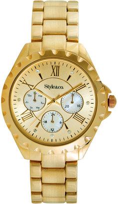 Style&Co. Watch, Women's Gold-Tone Bracelet 37mm SC1391