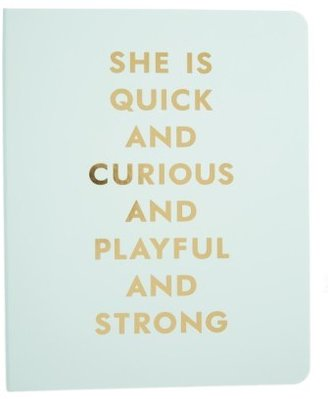 Kate Spade New York She Is Quick And Curious Spiral Notebook - Blue