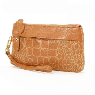 Amerileather sparks leather clutch