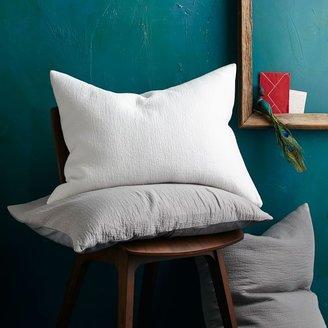 west elm Organic Brighton Matelasse Duvet Cover + Shams - Stone White