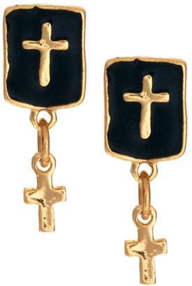 Asos Double Cross Stud Earrings