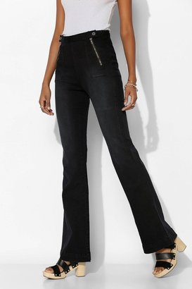 BDG Zip-Front Flare Jean - True Black