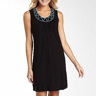 JCPenney St. John's Bay® Beaded Neckline Dress-Petites