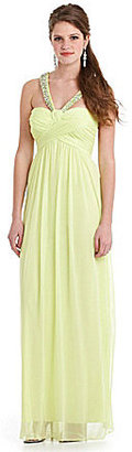 Jodi Kristopher Chiffon Criss-Cross Dress