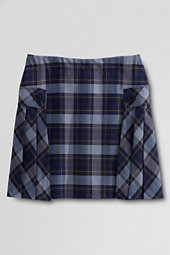 Lands' End Juniors Side Pleat Plaid Skort Above Knee-Classic Navy/Evergreen Plaid $45 thestylecure.com