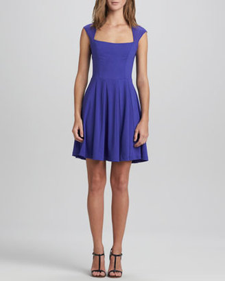 Erin Fetherston Elena Mesh Flared Dress