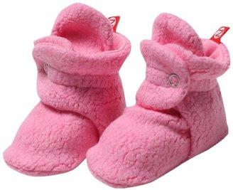 Zutano Cozie Fleece Bootie - Hot Pink- 3 Months
