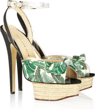 Charlotte Olympia Serena printed canvas sandals