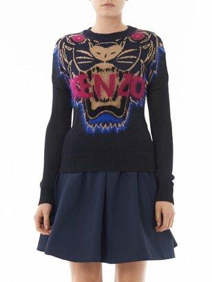 Kenzo Flying tiger intarsia-knit sweater