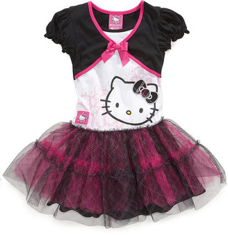 Hello Kitty Girls Dress, Little Girls Shrug Tutu Dress