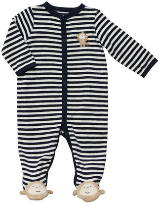 Carter's Baby Coverall, Baby Boys Striped Terry Cloth Coverall
