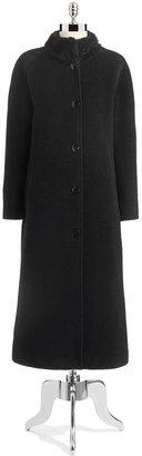 Jones New York Faux Fur Collared Trench Coat