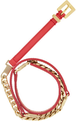 Reiss Benelle LEATHER AND CHAIN MIX BELT