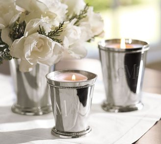 Pottery Barn Silver-Plated Julep Candle Pot