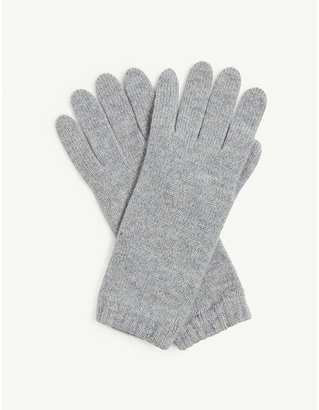 Johnstons Knitted cashmere gloves