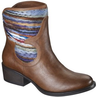 Mossimo Women's Kandace Blanket Ankle Cowboy Boot - Brown
