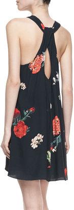Alice + Olivia Liz Castaway Floral-Print Tunic Dress