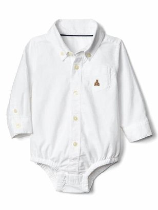 Gap Oxford button-up bodysuit
