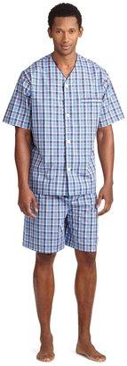 Brooks Brothers Multi Plaid Pajama Set with Shorts