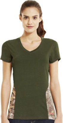 Under Armour Women's Charged Cotton Camo V-neck