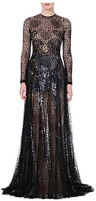 Marios Schwab Sheer lace gown