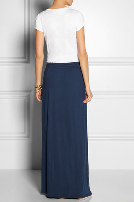 Splendid Color-block Supima cotton and modal-blend jersey maxi dress