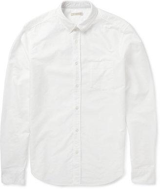 Burberry Slim-Fit Stripe-Trimmed Cotton Oxford Shirt