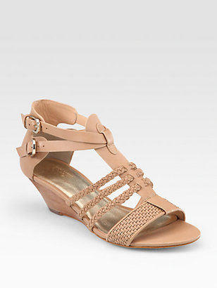 Belle by Sigerson Morrison Alma Braided Leather Wedge Sandals