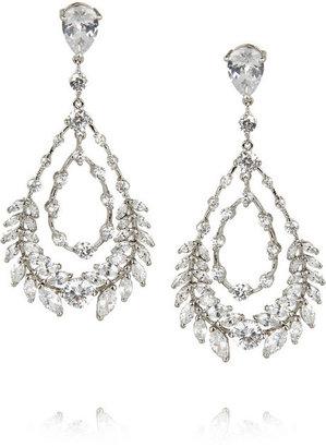 Kenneth Jay Lane Rhodium-plated cubic zirconia earrings