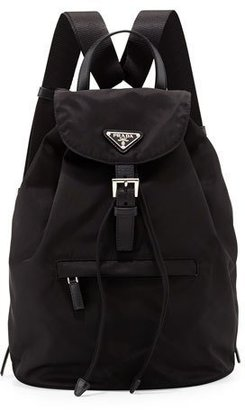 Prada Vela Medium Backpack, Black (Nero) $925 thestylecure.com
