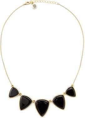House Of Harlow Reversible Golden/Black Onyx Geometric Necklace (Stylist Pick!)