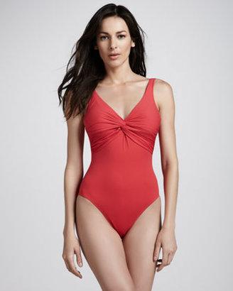 Gottex Twist-Neck One-Piece Swimsuit