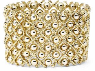 Bold Elements Gold-Tone Ball Stretch Bracelet
