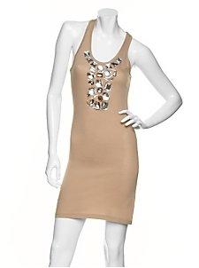 MK2K Giant Jewel Racerback Tee Dress