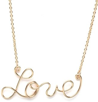 BaubleBar Gold Love Pendant