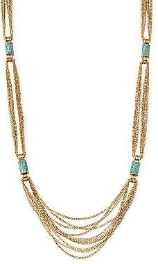 """Nicole Miller nicole by 39"""" Gold-Tone Necklace"""