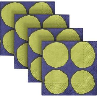 Marimekko Set of 20 Kivet Green and Blue Paper Beverage Napkins