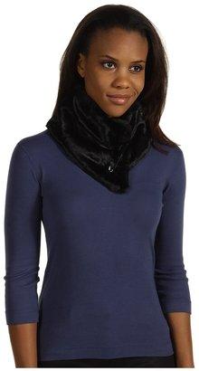 Calvin Klein Safety Pin Faux Fur Collar (Black) - Accessories