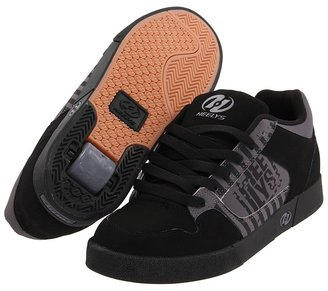 Heelys Caution (Little Kid/Big Kid/Adult) (Black/Charcoal) - Footwear