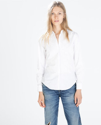 Zara 29489 Blue-Striped Shirt