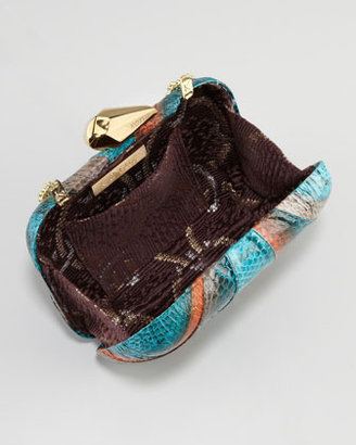 Kotur Morley Snakeskin Clutch Bag, Natural/Mahawi