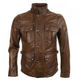 Belstaff Warrington Leather Jacket Walnut