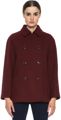 A.P.C. Wool-Blend Classic Coat in Brique