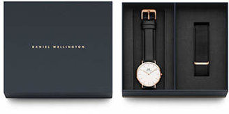 Daniel Wellington Holiday Gifts for Everyone Goldtone Stainless Steel Leather and Interchangeable Strap Watch Set