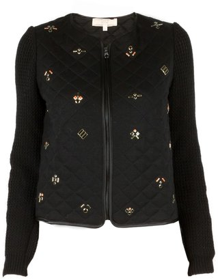 Vanessa Bruno athé by Quilted Jacket with Beading Detail