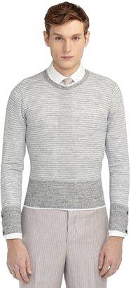 Brooks Brothers Multi Stripe Crewneck Sweater