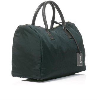 Jil Sander Navy Leather trimmed nylon bowling bag