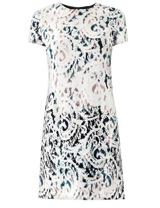 McQ by Alexander McQueen Lace-print paisley jacquard dress