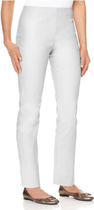 Charter Club Pants, Slim It Up Straight Leg Cropped Trousers