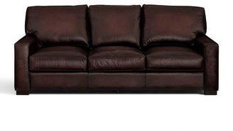 Pottery Barn Turner Leather Square Arm Sofa